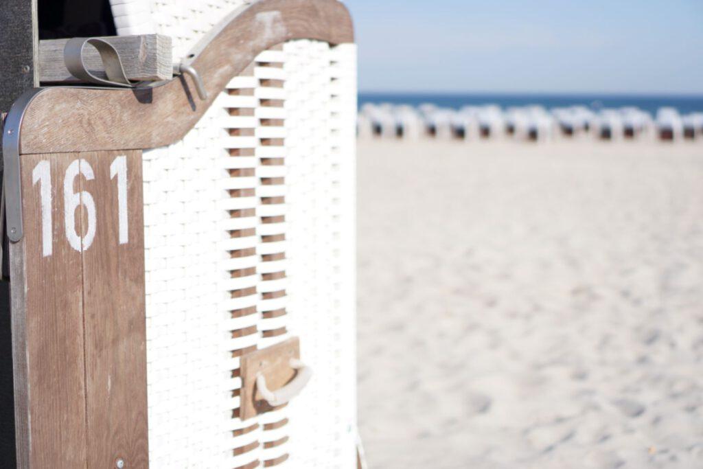 Strandkorb in Warnemünde